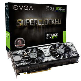 EVGA GeForce GTX 1070 Black SC Gaming ACX 3.0 HDMI 3xDP 8Go