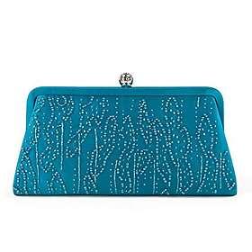 Farfalla Bags Satin Beaded Clutch Bag Sb90550