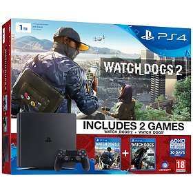 Sony PlayStation 4 Slim 1To (+ Watch Dogs 1 + 2)