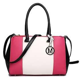 Miss Lulu Sutton Center Stripe Satchel Handbag (LM1643)