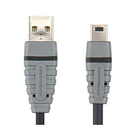 Bandridge Blue USB A - USB Mini-B 2.0 4.5m