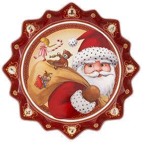 Villeroy & Boch Toy's Fantasy Pastry Santa's Gifts Djup Tallrik Ø39cm