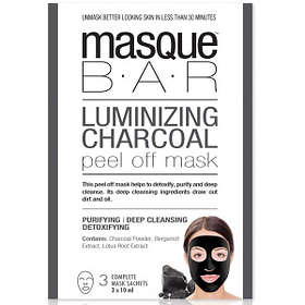Masque Bar Luminizing Charcoal Peel Off Mask 3x10ml