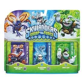 Skylanders Swap Force - Mega Ram Spyro/Blizzard Chill/Zoo Lou - 3 Pack
