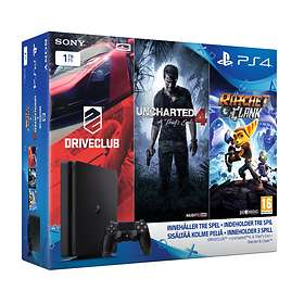 Sony PlayStation 4 Slim 1To (+ Driveclub + Uncharted 4 + Ratchet & Clank)