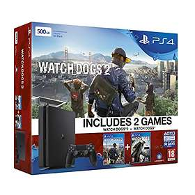 Sony PlayStation 4 Slim 500GB (incl. Watch Dogs 1 + 2)