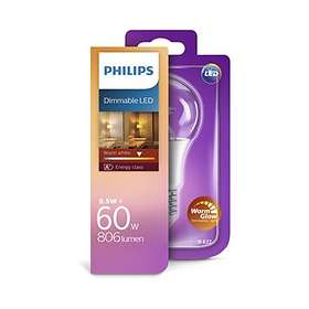 Philips LED WarmGlow 806lm 2700K E27 8,5W (Kan dimmes)
