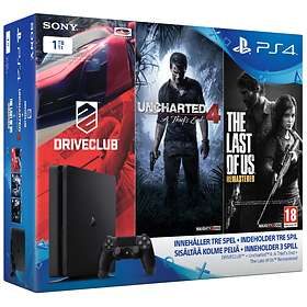 Sony PlayStation 4 Slim 1TB (incl. Driveclub + Uncharted 4 + The Last of Us)