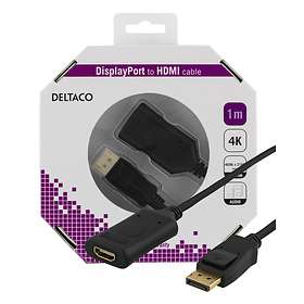 Deltaco Active HDMI - DisplayPort F-M 1m