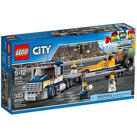 574bc41eeafd Find the best price on LEGO City 60151 Dragster Transporter ...