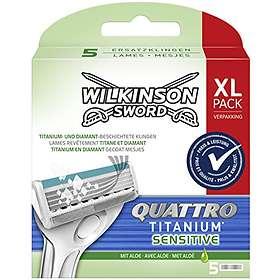Wilkinson Sword Quattro Titanium Sensitive 5-pack
