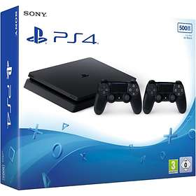 Sony PlayStation 4 Slim 500GB (inkl. 2nd DualShock 4 V2)