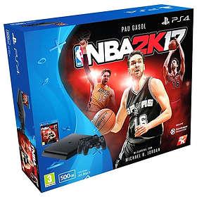 Sony PlayStation 4 Slim 500Go (+ NBA 2k17 + 2nd DualShock 4)