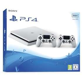 Sony PlayStation 4 Slim 500GB (incl. 2nd DualShock) - White Edition