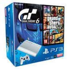 Sony PlayStation 3 Slim 500Go (+ Gran Turismo 6 + GTA V) - White Edition