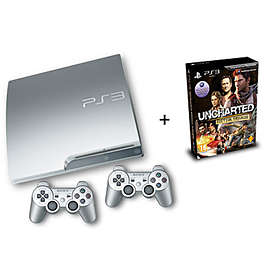 Sony PlayStation 3 Slim 320GB (incl. Uncharted Trilogy + 2nd DualShock) - Silver