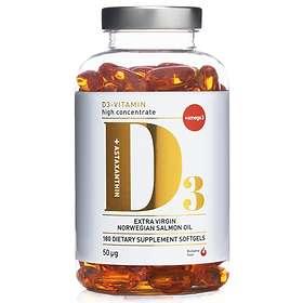 Biosalma Vitamin D3 50mcg 180 Kapslar