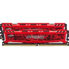 Crucial Ballistix Sport LT Red DDR4 2666MHz 2x4GB (BLS2C4G4D26BFSE)