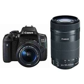 Canon EOS 750D + 18-55/3,5-5,6 IS STM + 55-250/4,0-5,6 IS STM