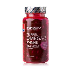 Biopharma Trippel Omega-3 Kvinne 120 Kapslar