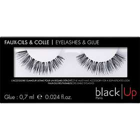 black|Up Eyelashes & Glue False Lashes