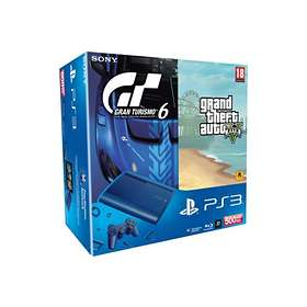 Sony PlayStation 3 Slim 500Go (+ Gran Turismo 6 + GTA V) - Blue Edition