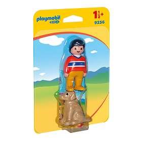 Playmobil 1.2.3 9256 Pojke Med Hund