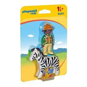 Playmobil 1.2.3 9257 Pojke Med Zebra