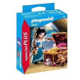 Playmobil Special Plus 9087 Flibustière avec trésor