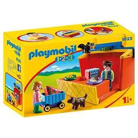 Playmobil 1.2.3 9123 Marknadsstånd Som Du Kan Ta med Dig