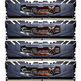 G.Skill Flare X Black DDR4 2400MHz 4x16GB (F4-2400C16Q-64GFX)