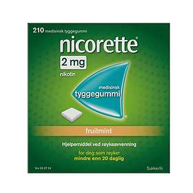 McNeil Nicorette Tyggegummi Fruitmint 2mg 210stk
