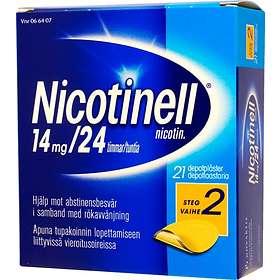 GSK GlaxoSmithKline Nicotinell Depotplåster 14mg/24h 21st