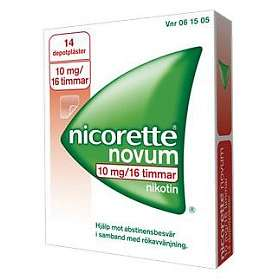 McNeil Nicorette Novum Depotplåster 10mg/16h 14st