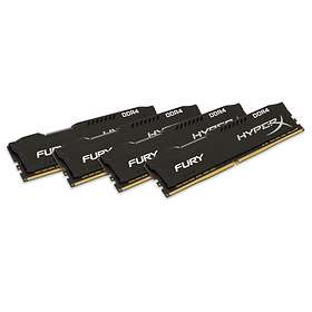 Kingston HyperX Fury Black DDR4 2666MHz 4x16GB (HX426C16FBK4/64)