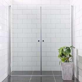 Bathlife Dusjdør Mångsidig Rett Dør + Mellan Vegg 80x100