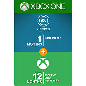 Microsoft Xbox Live Gold 12 Month Card + 1 Month EA Acess