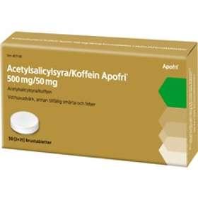 Evolan Acetylsalicylsyra/Koffein Apofri 500 mg/50 mg 50 Brustabletter