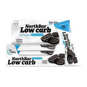 North Nutrition Low Carb Protein Bar 50g 12st