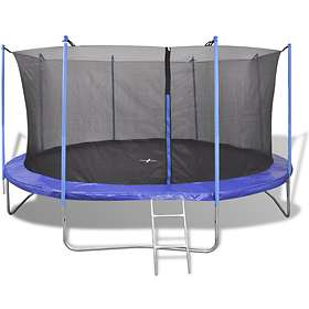 vidaXL Five Piece Trampoline with Safety Net 366cm