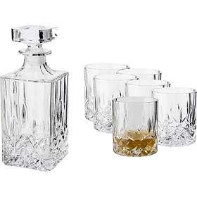 Dorre Vide Whiskykaraff 75cl Med 6 Whiskyglas 22cl