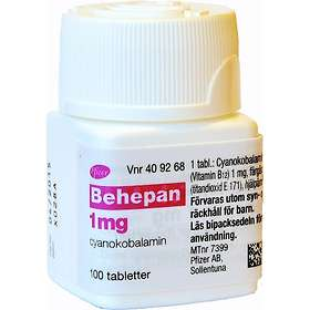 Pfizer Behepan 1mg 100 Tabletter