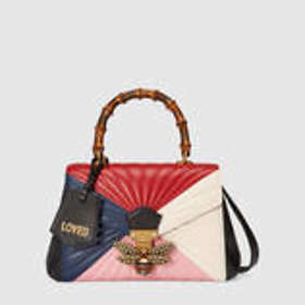 c706d144850f Find the best price on Gucci Queen Margaret Quilted Leather Top ...