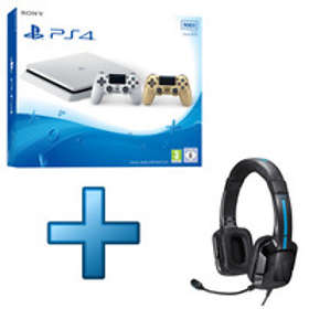 Sony PlayStation 4 Slim 500Go (+ 2nd Gold DualShock) - White Edition