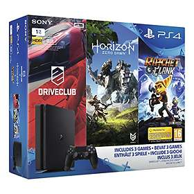 Sony PlayStation 4 Slim 1To (+ Driveclub + Horizon + Ratchet & Clank)