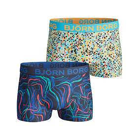 Björn Borg Swirl & Splash Cotton Stretch Short Shorts 2-Pack