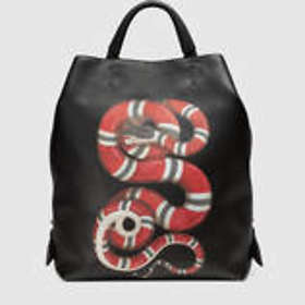 6e40fc1cef85 Find the best price on Gucci Snake Print Leather Backpack (Men's ...