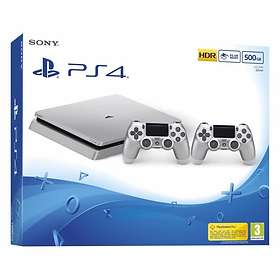 Sony PlayStation 4 Slim 500GB (inkl. 2nd DualShock) - Silver Edition
