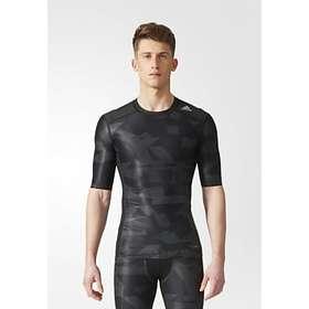 Adidas Techfit Chill Print Compression SS Shirt (Herr)