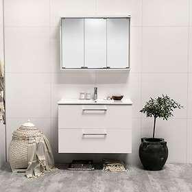 Noro Home Tvättställsskåp 900mm (Vit Halvmatt)